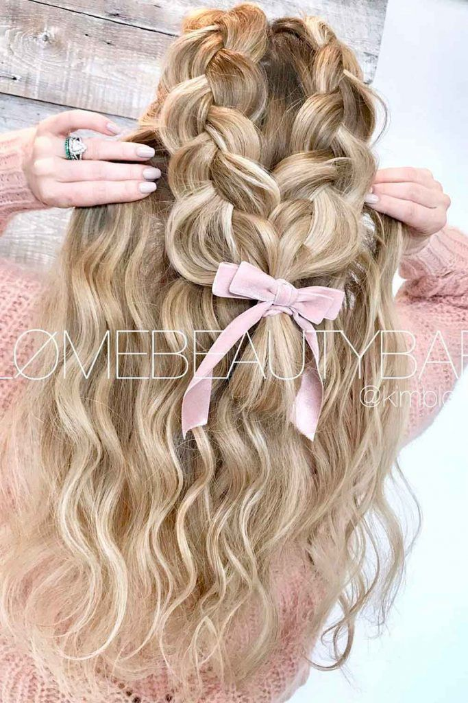 Everyday Ideas With A Dutch Braid, braided hairstyles for long curly hair, long hair with braids, long thick braids, braids long hair