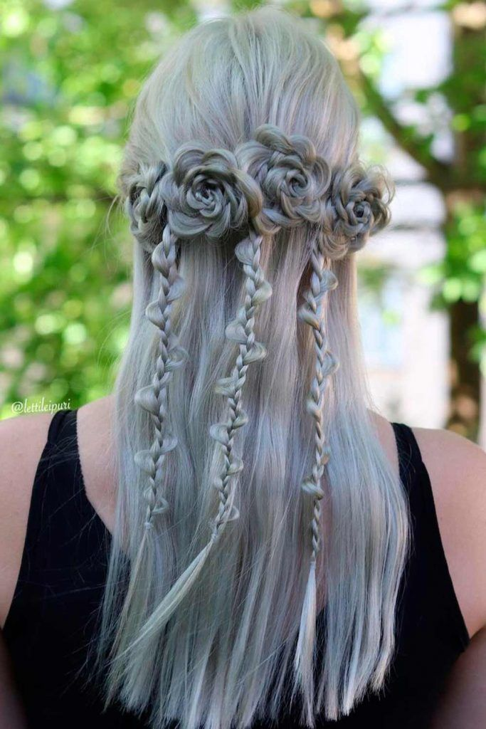 Magical Transformation - Braids Into Flowers, braided wedding hairstyles for long hair, braids long hair, long hairstyles with braids, long hair with braids