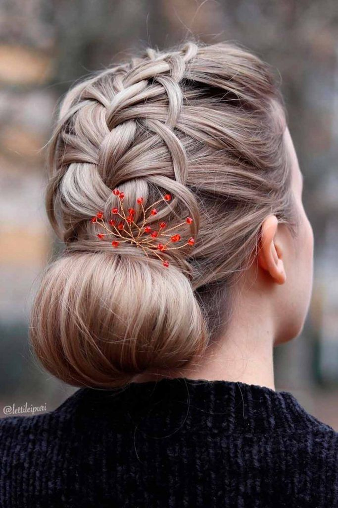 Updo Braided Hairstyles For Long Hair For A Special Occasion, easy braided updos for long hair, braided buns for long hair, braided hairdos for long hair, braided updo hairstyles for long hair