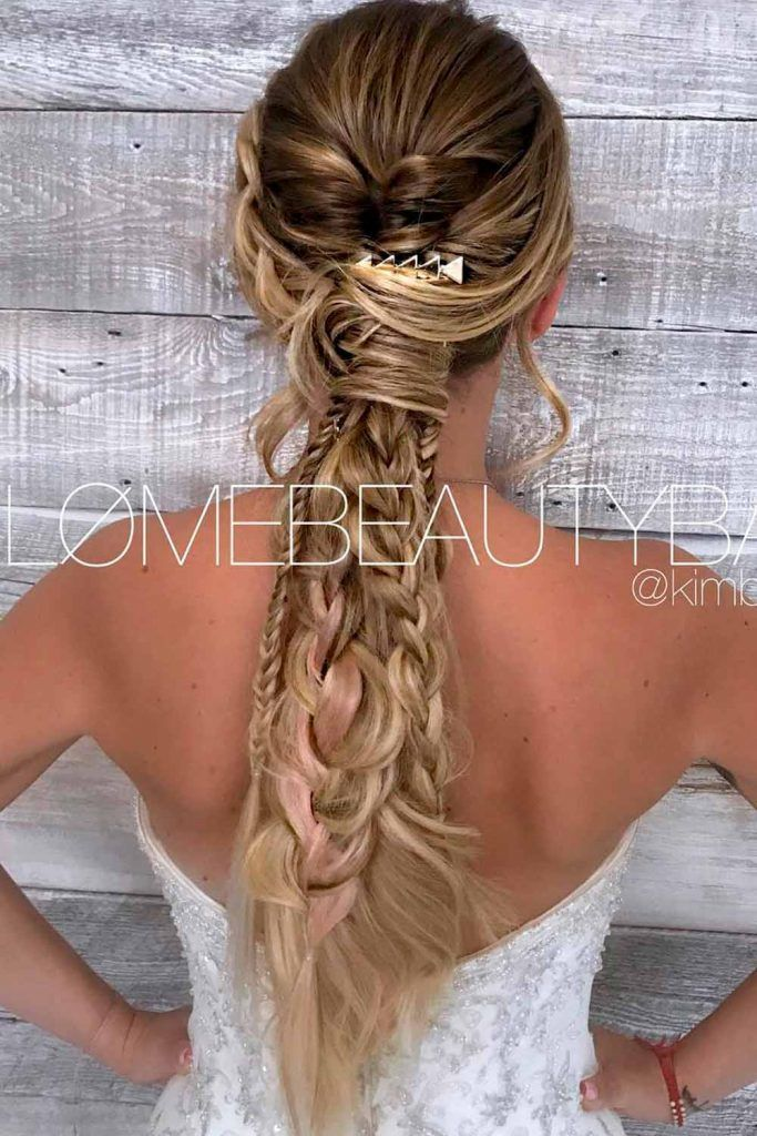Attractive Combo With Ponytails, braided wedding hairstyles for long hair, braids long hair, hairstyle for long braids, cute braids for long hair