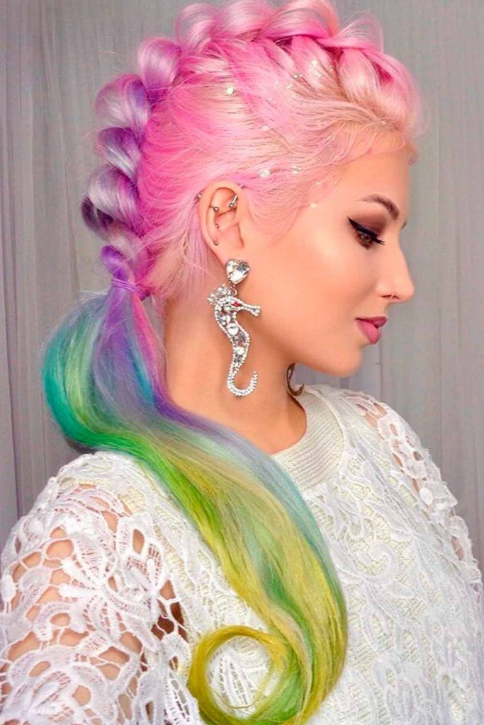 Attractive Combo With Ponytails, braids for long hair, long hair braids, long hair with braids, braids styles for long hair