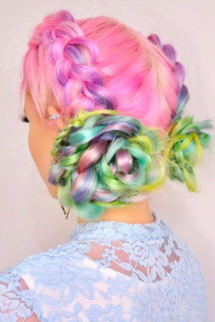 Magical Transformation - Braids Into Flowers, braided hairdos for long hair, easy braided updos for long hair, two long braids, long hairstyles with braids