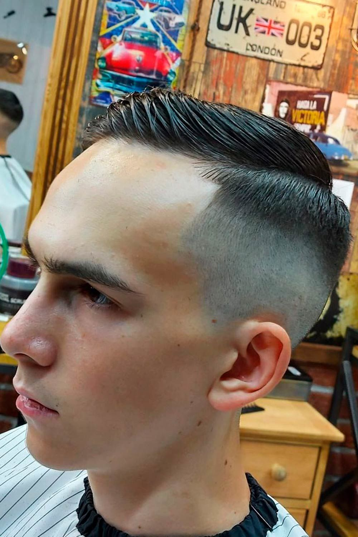 Side-Swept Crew Cut, crewcut, crew haircut, mens crewcut