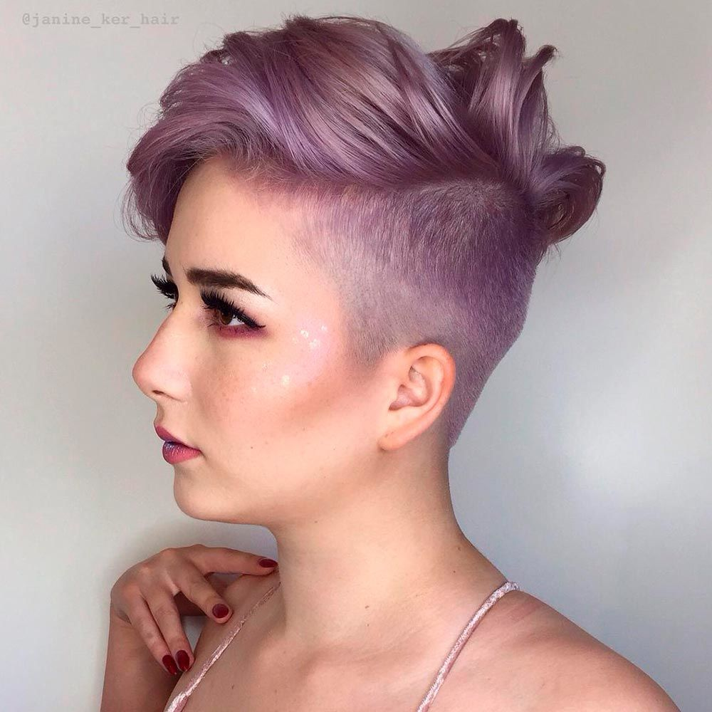 Violet Pixie With Undercut, pixie cut for curly hair, how to style a curly pixie cut, pixie cut curly hair round face
