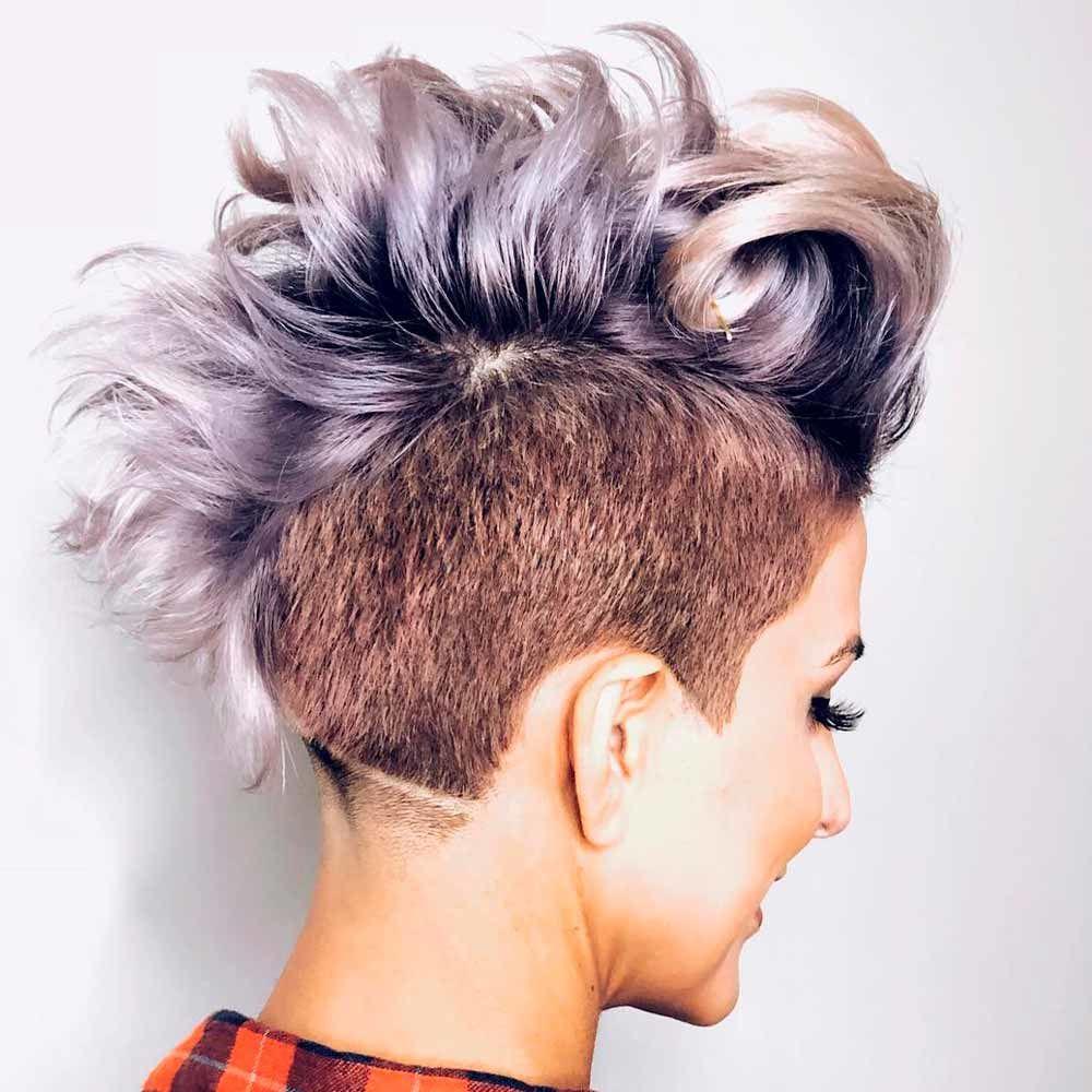 Voluminous Curly Hair With An Undercut, curly undercut pixie, curly hair pixie cut, curly long pixie cut