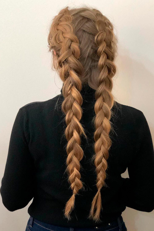 Classic Double Dutch Braids, how to dutch braid your own hair, how to do a dutch braid, dutch braid tutorial
