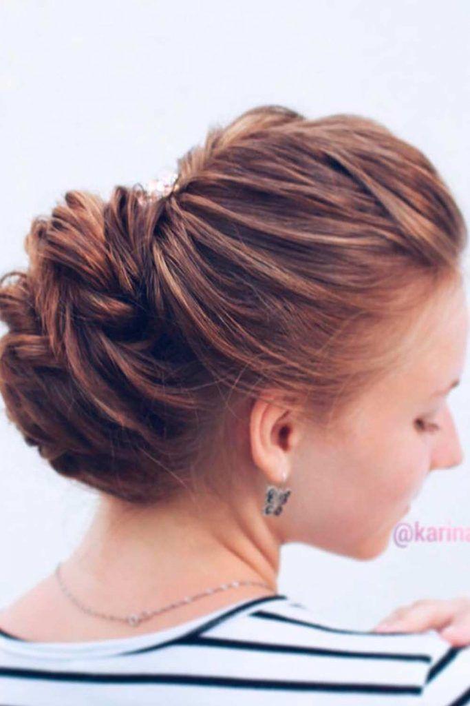Elegant French Twist For Wedding, formal up do hairstyles, formal updos hairstyles, formal bun hairstyles, elegant wedding hairstyles