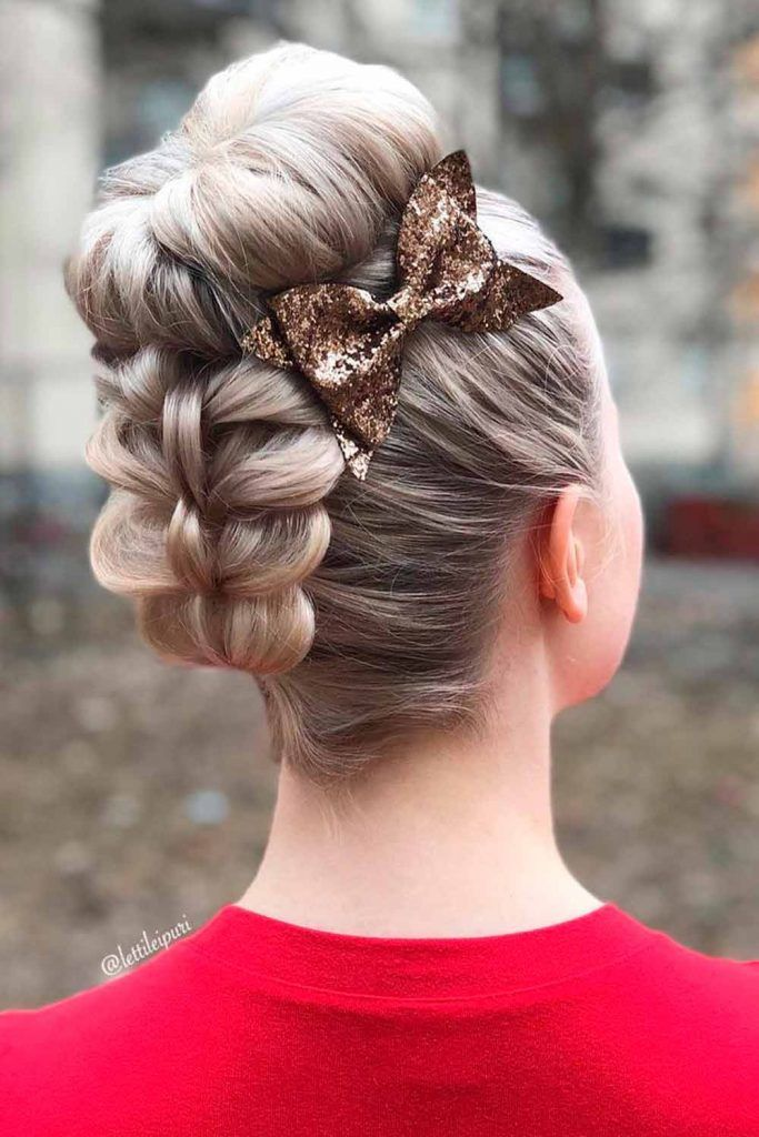 Gorgeous High Bun, formal updo, braided formal hair, elegant hairstyles for medium hair, elegant braids hairstyles