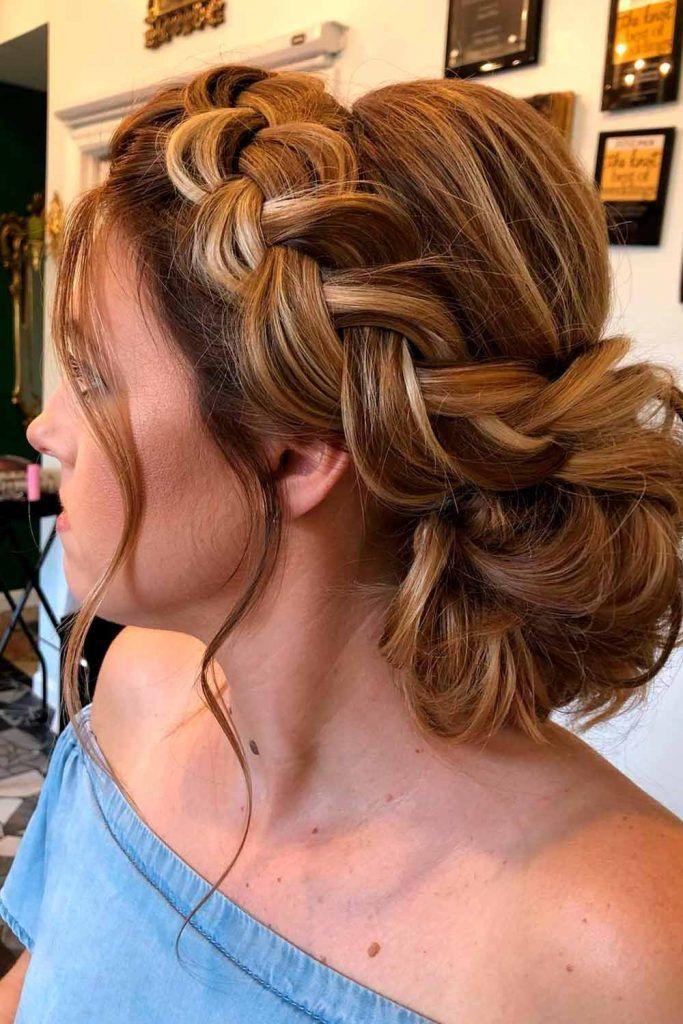 Braided Updos, elegant braids hairstyles, formal braid hairstyles, formal bun hairstyles