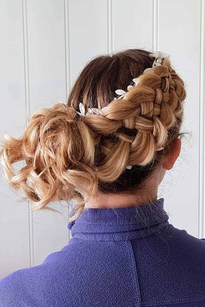 Braided Updos, hairstyles for formal wear, elegant half updos, hairstyles for formal event