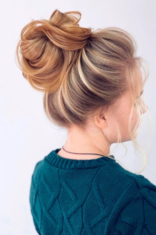 High Buns For Medium Hair, medium hair updos for wedding, updos for layered medium length hair, updos for thick medium hair