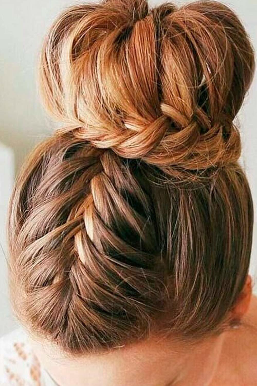Double Braided Updo, cute updos for medium length hair, updos for medium layered hair, updos for thick medium length hair