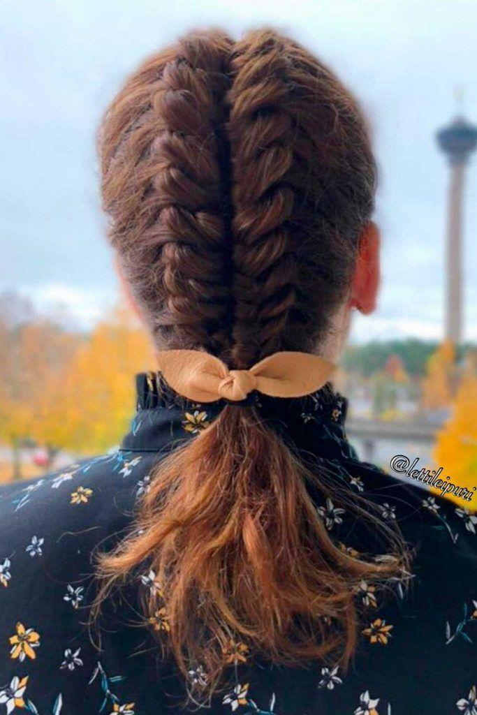 Faux Hawk Style Braids, fishbone hair braid, how to do a fishbone braid, how to fishbone braid