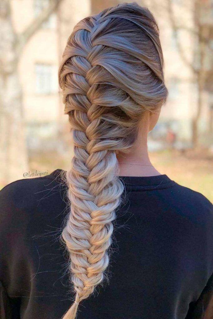 Mile Long Braid, fishbone french braid, fishbone braid, bone braids