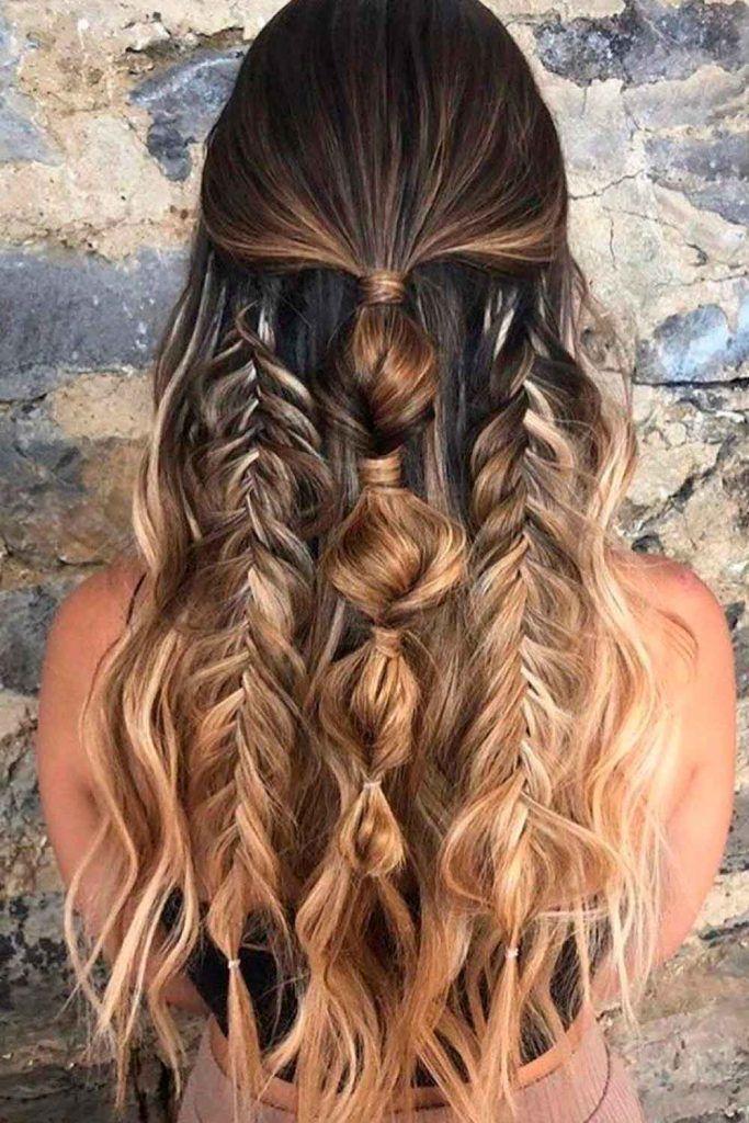 Creative, Messy Braided Style, fishbone hairstyles, fishbone hair, bone braids
