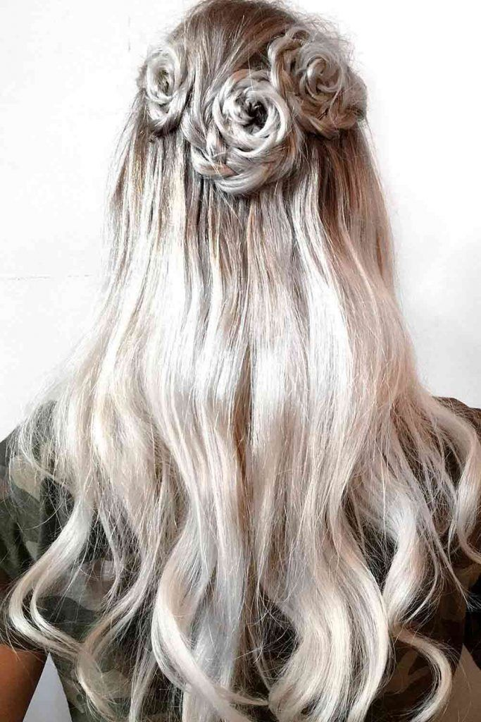 Twisted Rose Half-Up, fishbone goddess braids, fishbone braid hairstyles, fishbone hairstyles