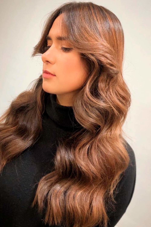 Most Delectable Caramel Highlights Hair, short dark hair with blonde highlights, dark brown hair with gray highlights, dark brown hair with auburn highlights