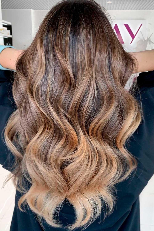 Amazing Long Highlighted Hair, highlights for brunettes, blonde highlights on dark hair, brunette hair with highlights