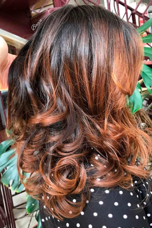 Warm & Sultry, brunette highlights, brunette with blonde highlights, dark hair highlights