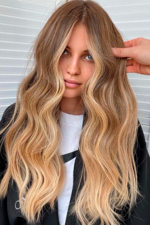 Sandy Blonde, dark brown hair with blonde highlights, brunette highlights, brunette with blonde highlights