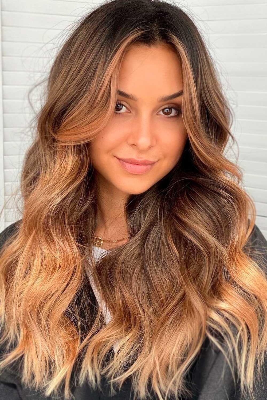 Light Golden Brown Face-Framing Highlights, dark hair with highlights, dark brown hair with blonde highlights, brunette highlights