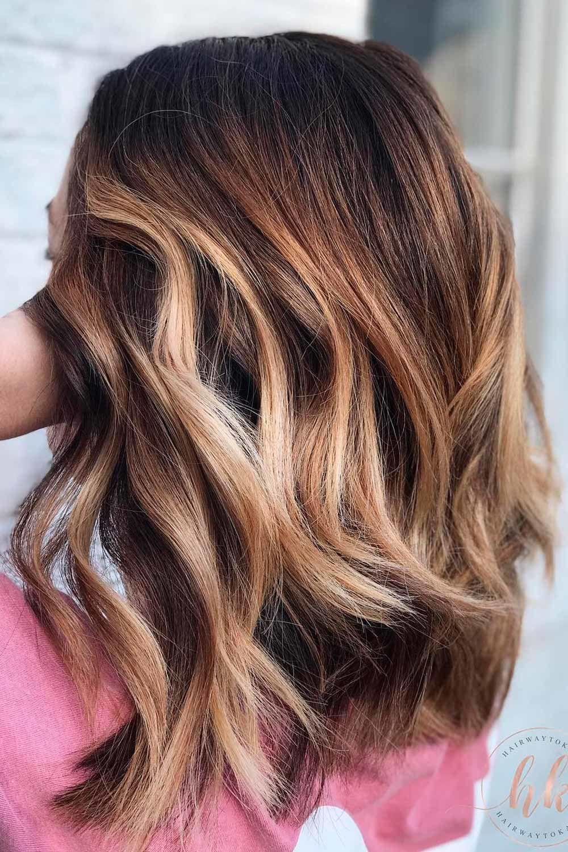 Deep Brown Hair Shade And Honey Highlights, honey brown highlights on dark brown hair, honey brown blonde hair, chocolate brown hair with honey highlights