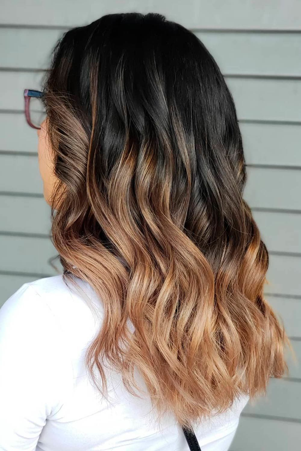 Ombre Honey Brown Hair Color, honey highlights on dark brown hair, dark brown hair with honey highlights, chocolate brown hair with honey highlights