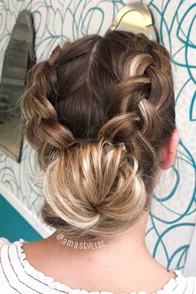 Braided Messy Bun, messy braid bun, messy buns, how to make a messy hair bun