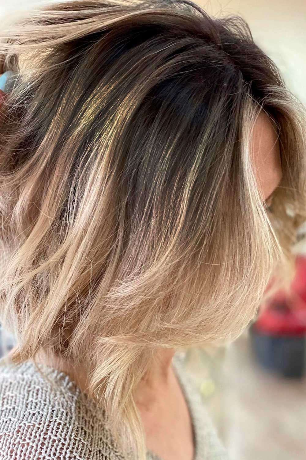 Chocolate And Blonde Ombre, short red ombre hair, short hair ombre blonde, short straight ombre hair