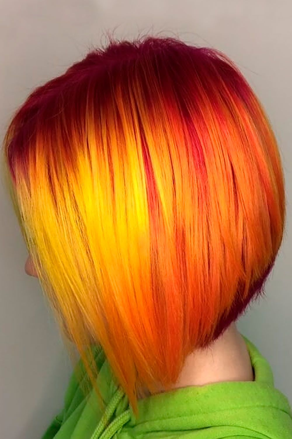 Short & Sassy Fiery Red Ombre, ombre hair color short hair, short red ombre hair, short hair ombre blonde