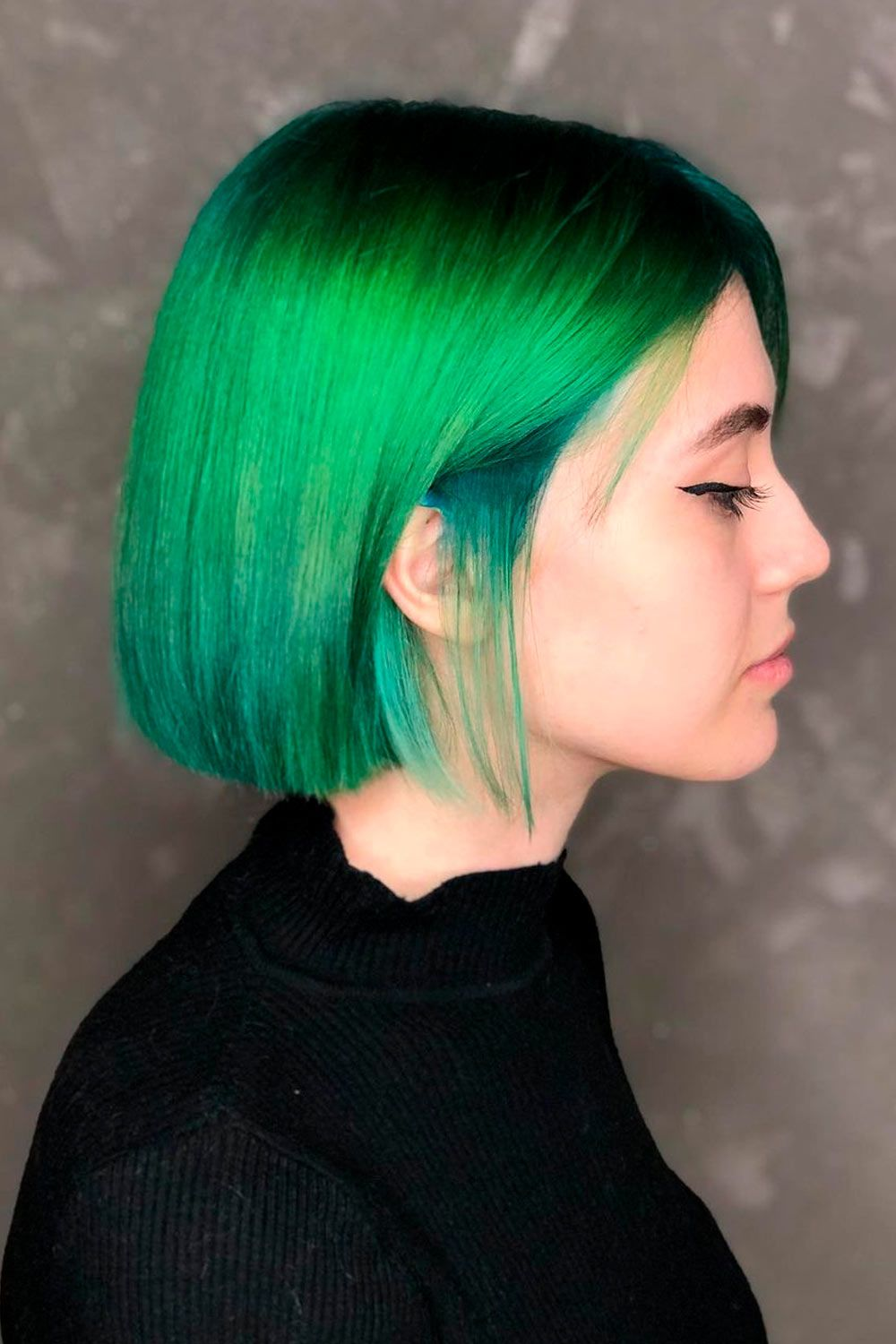 Fresh Green Ombre, short blonde ombre hair, short ombre hair with bangs, short ombre blonde hair