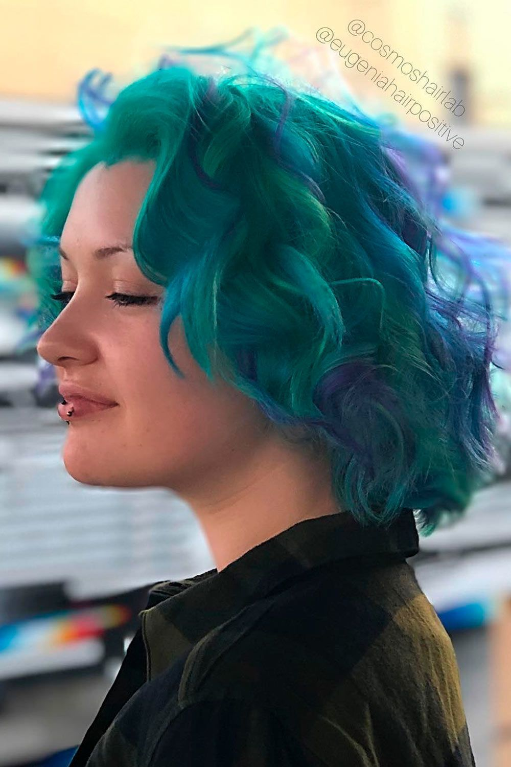 Magical Mermaid Wispy Bob, short hair with ombre, short brown ombre hair, ombre with short hair