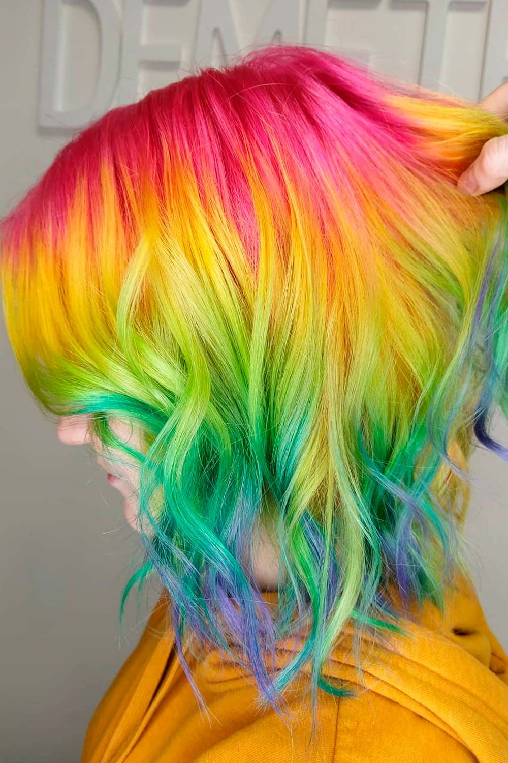 Multicolored Ombre, ombre hair short hair, ombre highlights short hair, short hair with ombre