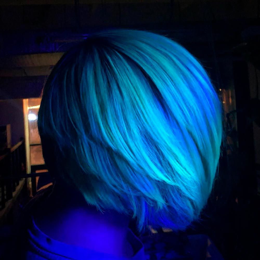 Glow-In-The-Dark Hair, hairstyles for girls for party hairstyles for evening party, hairstyles for cocktail party