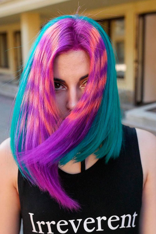 Pastel Blue With Light Purple