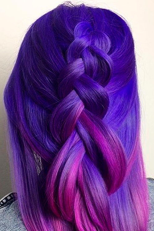 Dark Blue To Purple Ombre