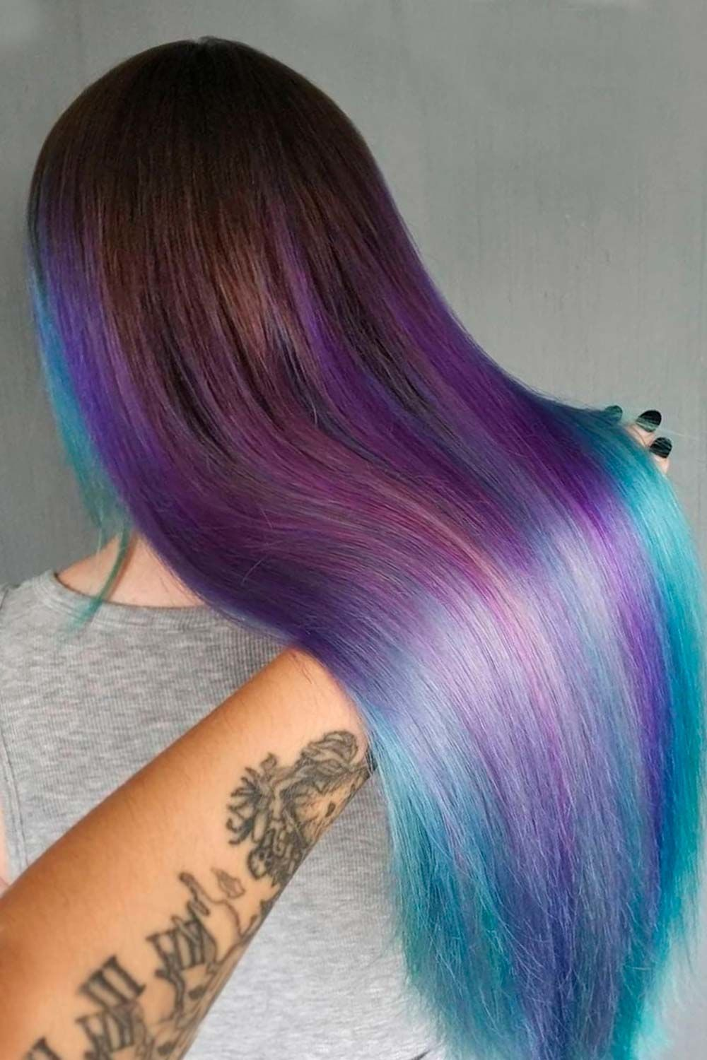 Purple Highlights With Bluish Ends