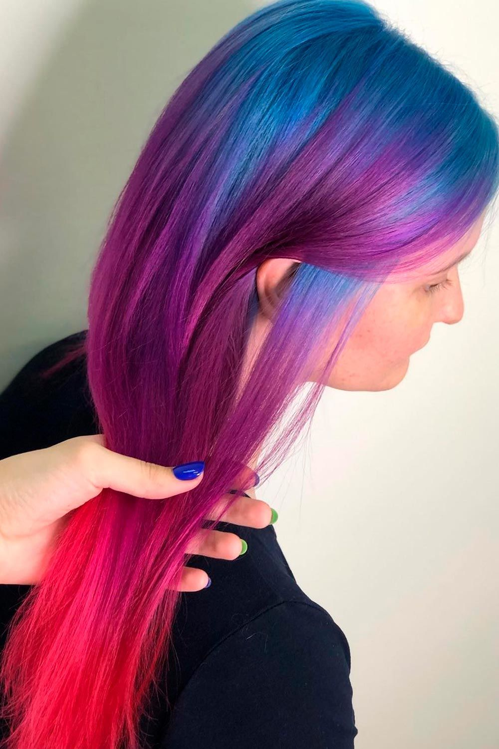 Ink Blue Roots To Purple