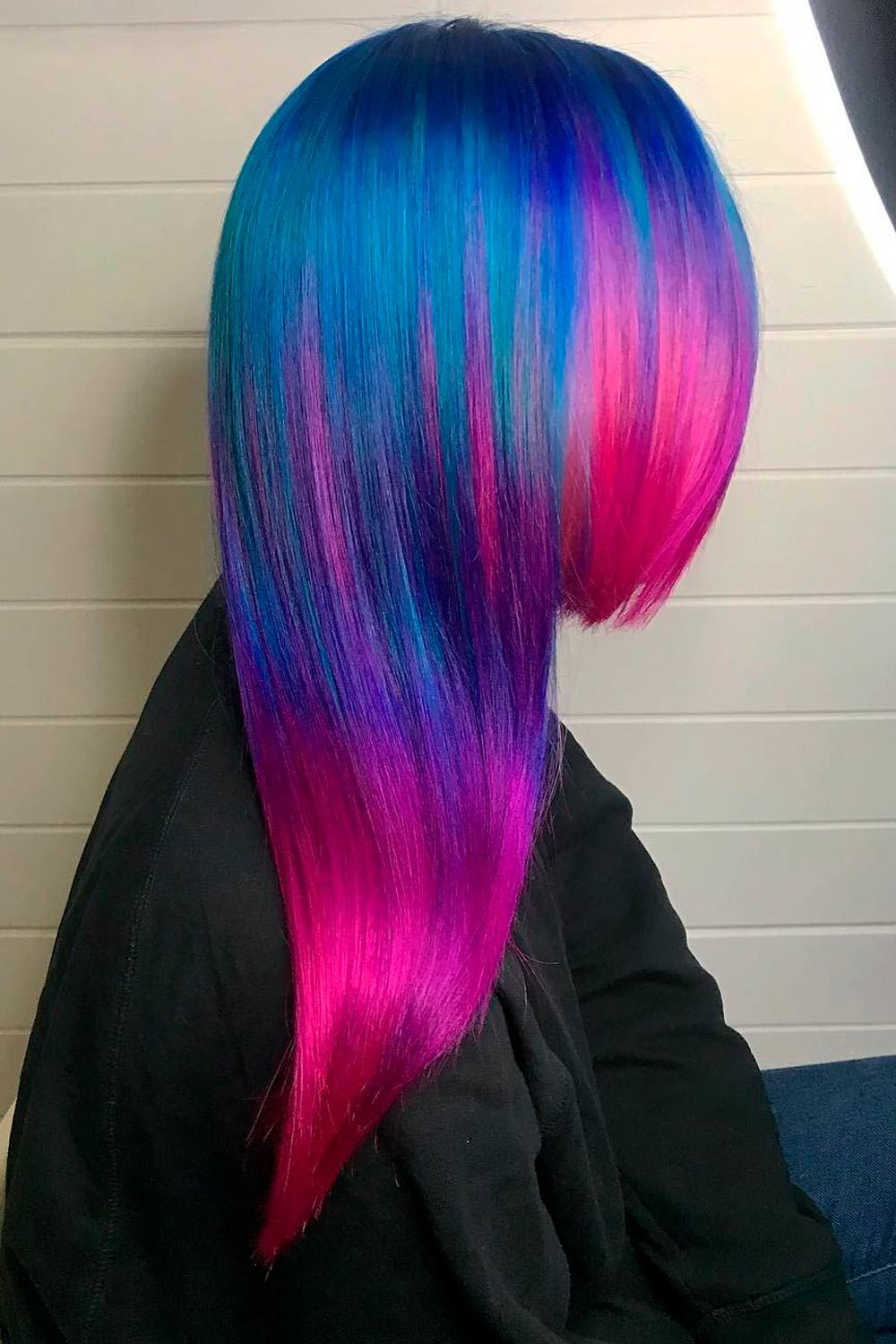Blue And Purple Neon Highlights