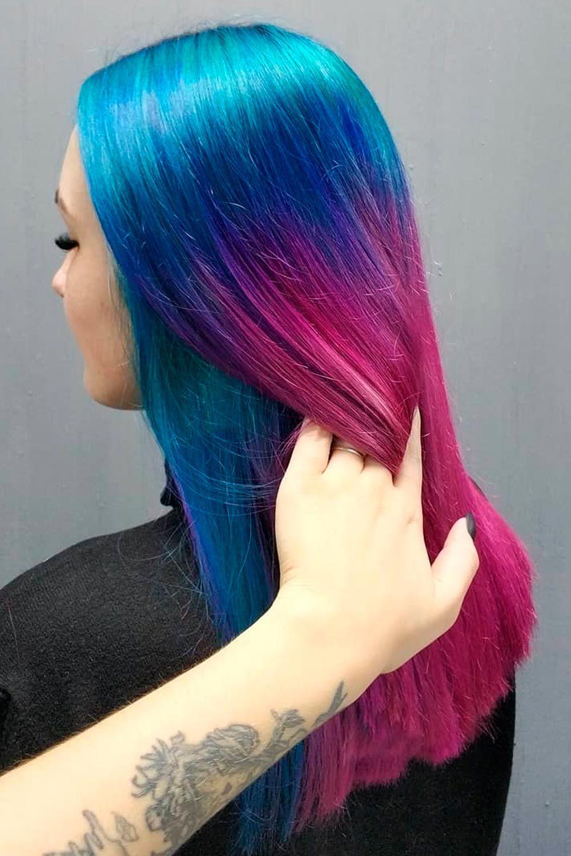 Ocean Blue With Purple