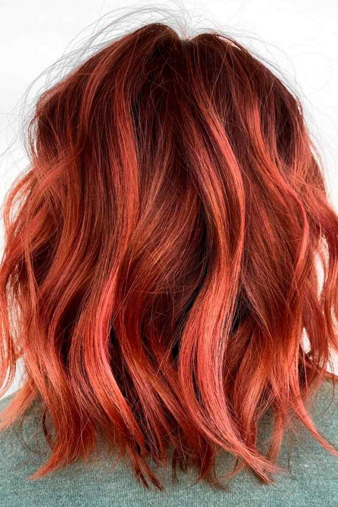 Red Ombre for Natural Redheads, light red ombre, reddish ombre hair, ginger ombre hair, red brown ombre