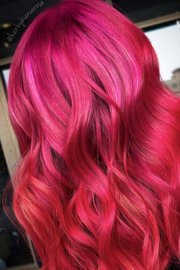 Red Rose Ombre, ombre red hair, red ombre color, red hair with ombre