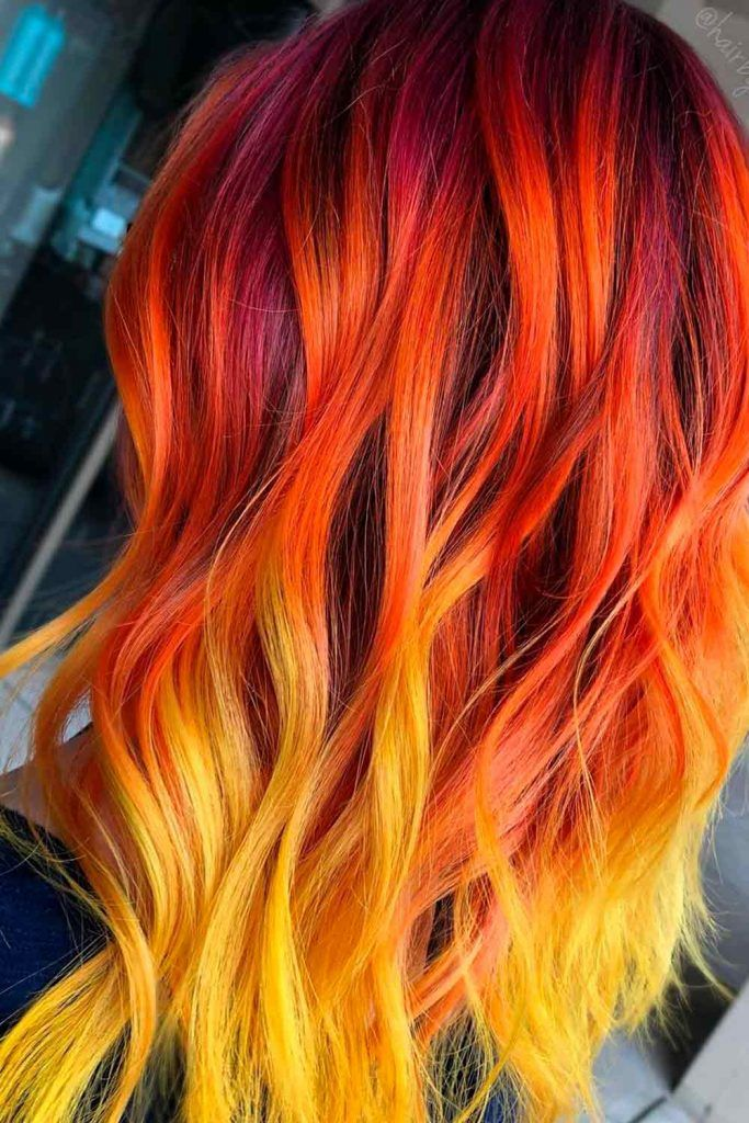 Fading Red, ombre hair red, reddish ombre hair, red balayage ombre