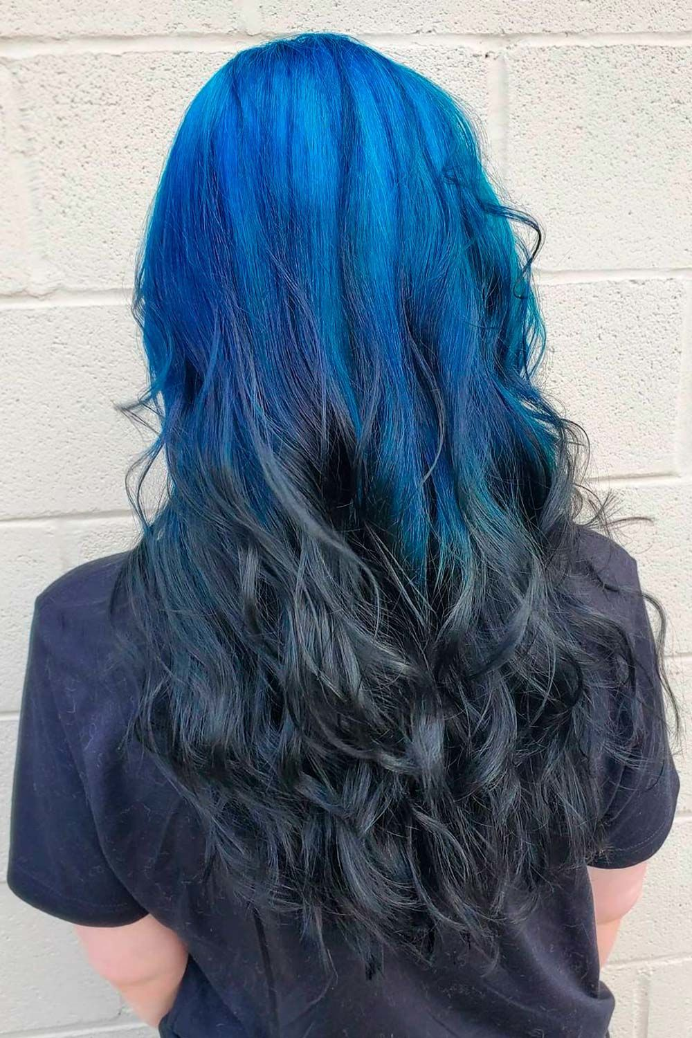 Extra Bright Ideas With Black And Colorful Ombre Reverse Hair, ombre reverse, Ombre Hairstyles for Long Hair