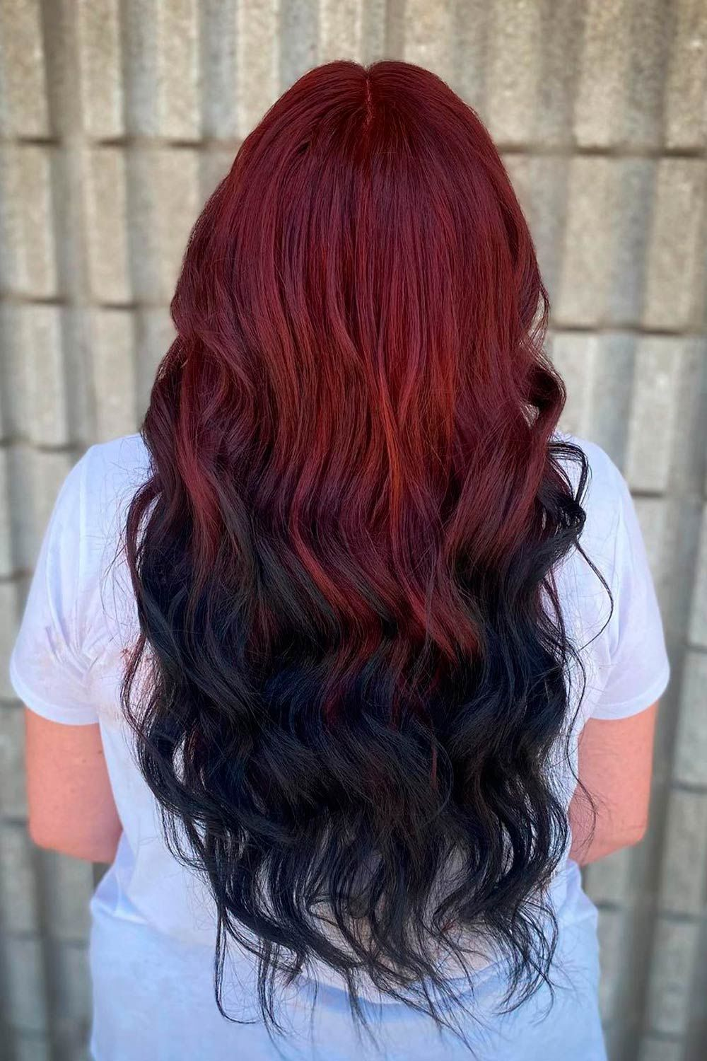 Extra Bright Ideas With Black And Colorful Ombre Reverse Hair, red ombre hair, Black ombre hair, reverse red ombre hair