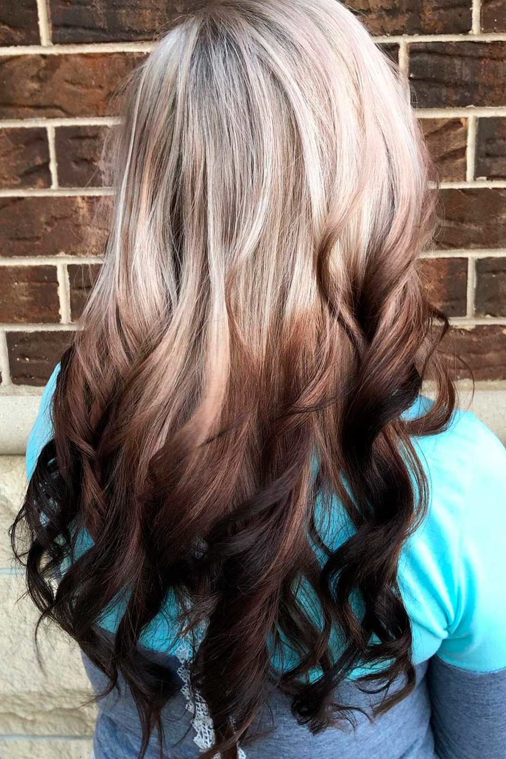 Reverse Ombre Hair Blonde To Brown, reverse ombre hair blonde to brown, reverse ombre blonde to brown, brown ombre hair