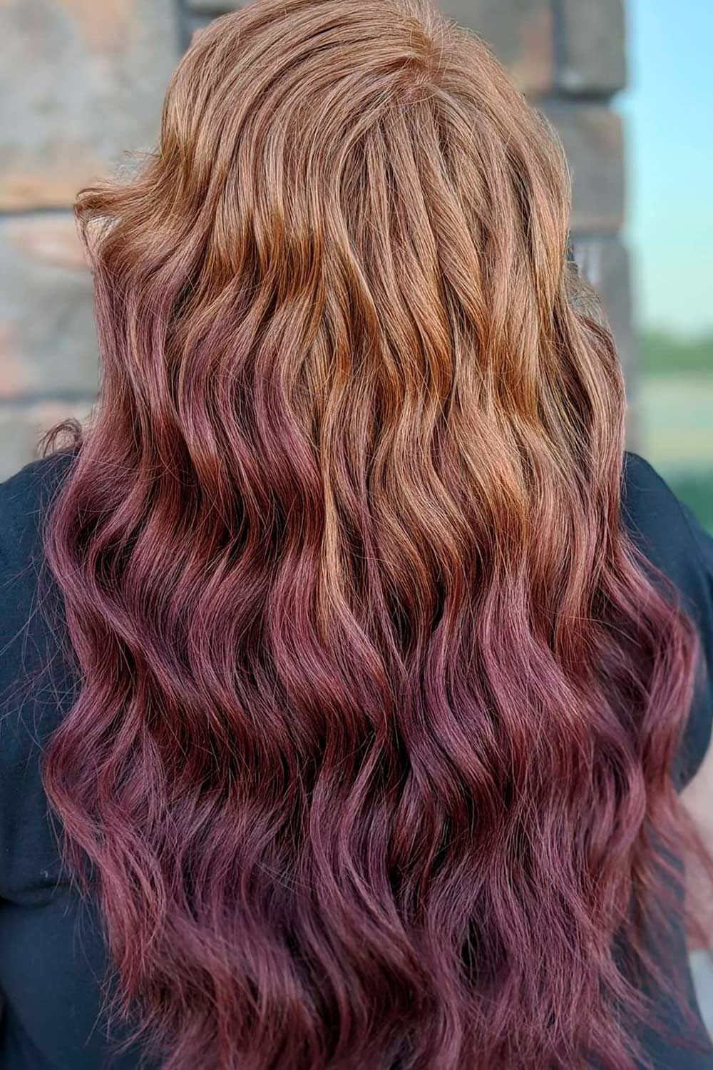 Reverse Ombre Brown Hair, ombre reverse, Ombre Hairstyles for Long Hair