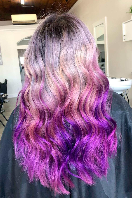 Reverse Purple Ombre, reverse purple ombre, Purple ombre hair