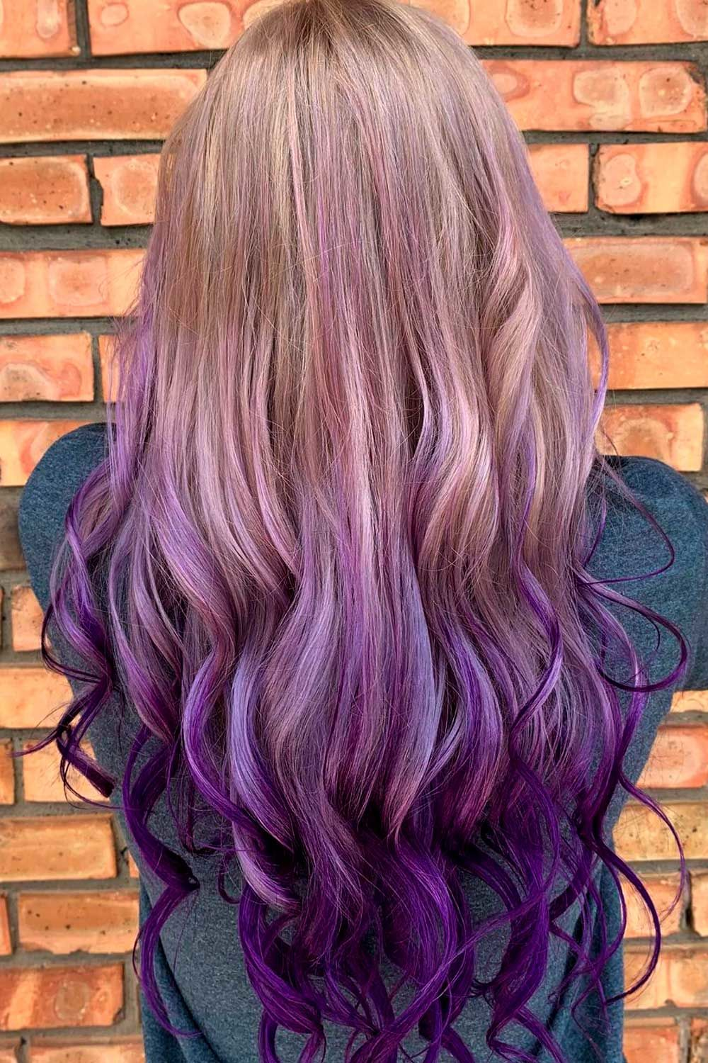 Reverse Purple Ombre, ombre reverse, reverse purple ombre