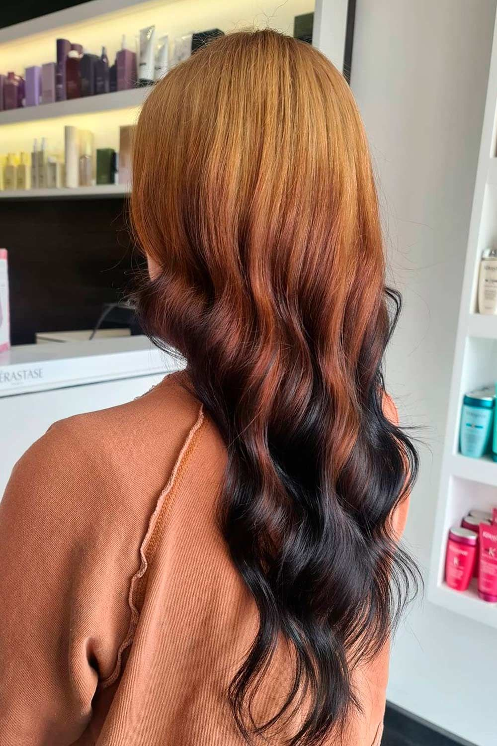 Brown And Black Hues, Ombre Hairstyles for Long Hair, reverse ombre brown hair